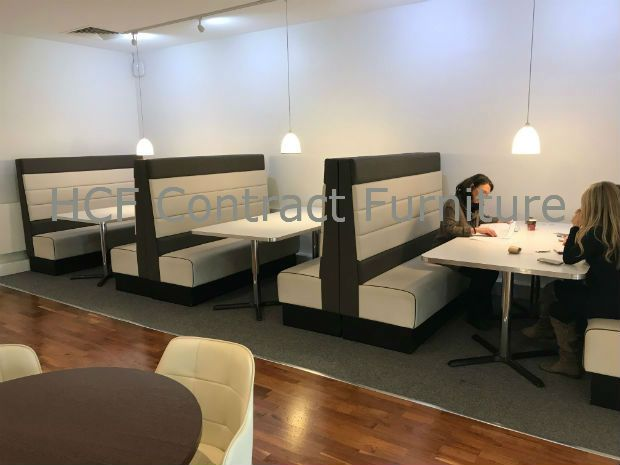 Upholstered Restaurant Booths Fixed Bench Bar Seating Banquette